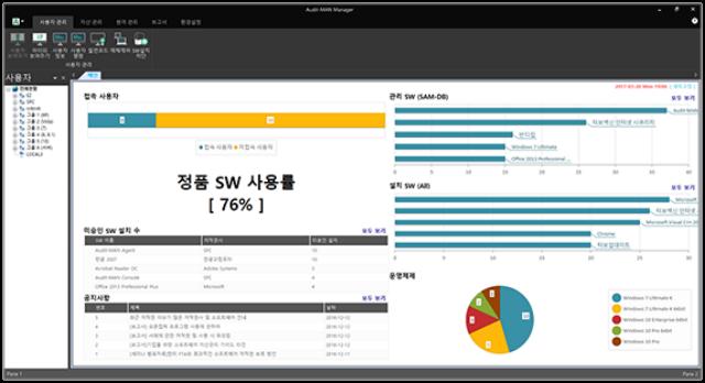 가비아 소프트웨어 자산관리 솔루션 관리자 콘솔